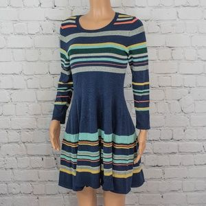Anthropologie Moth striped knit dress